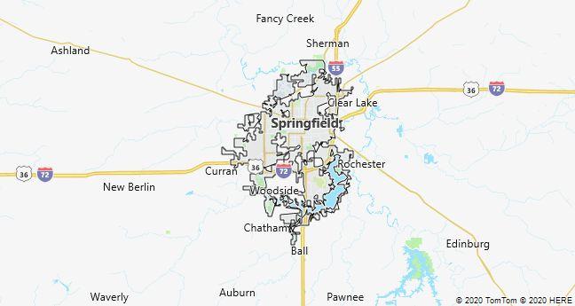 Map of Springfield, Illinois