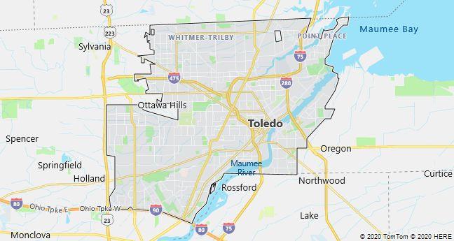 Map of Toledo, Ohio