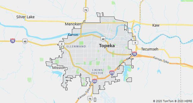 Map of Topeka, Kansas