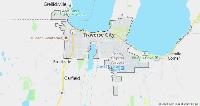 Map of Traverse City, Michigan