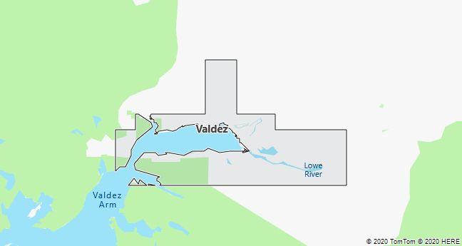 Map of Valdez, Alaska