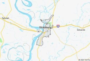 Map of Vicksburg, Mississippi