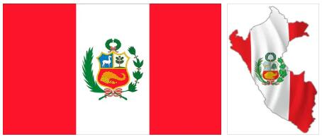 Peru Flag and Map