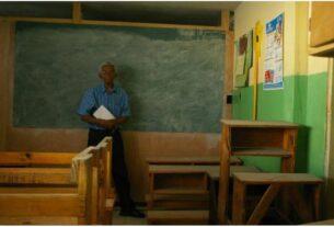 Abandoned school class after the 2010 earthquake Haiti