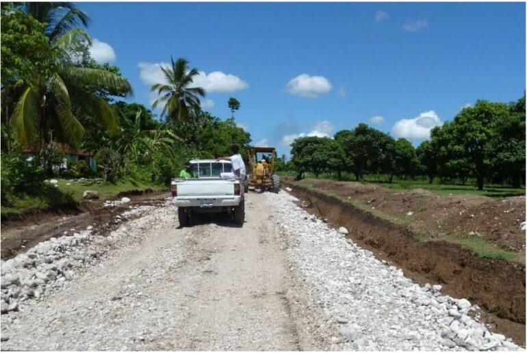 Road construction near Les Cayes Haiti