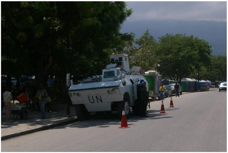 UN security forces on duty in Haiti